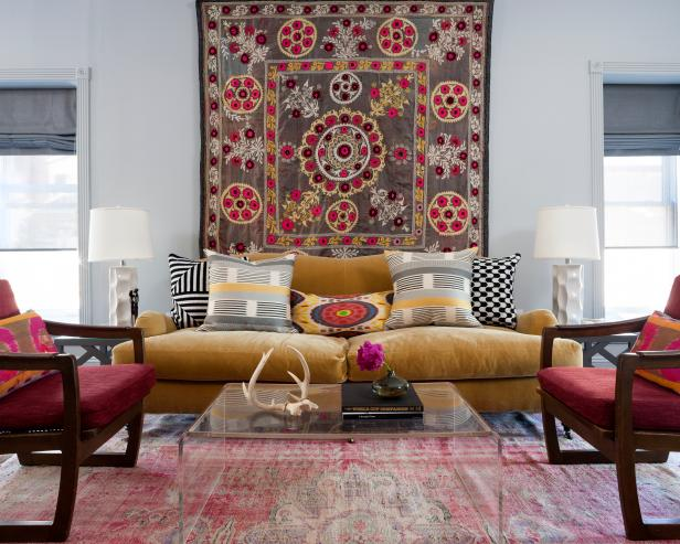 Patterned tapestry wall art