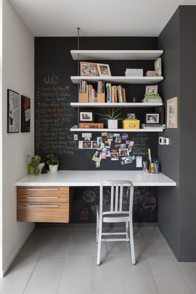 20 Chalk-painted desk nook