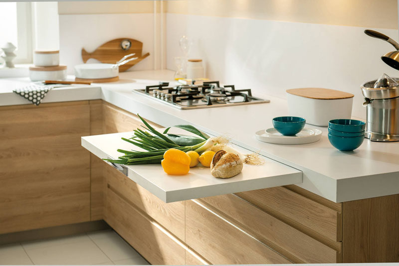 27 Kitchen Design Idea – Pull-out spaces