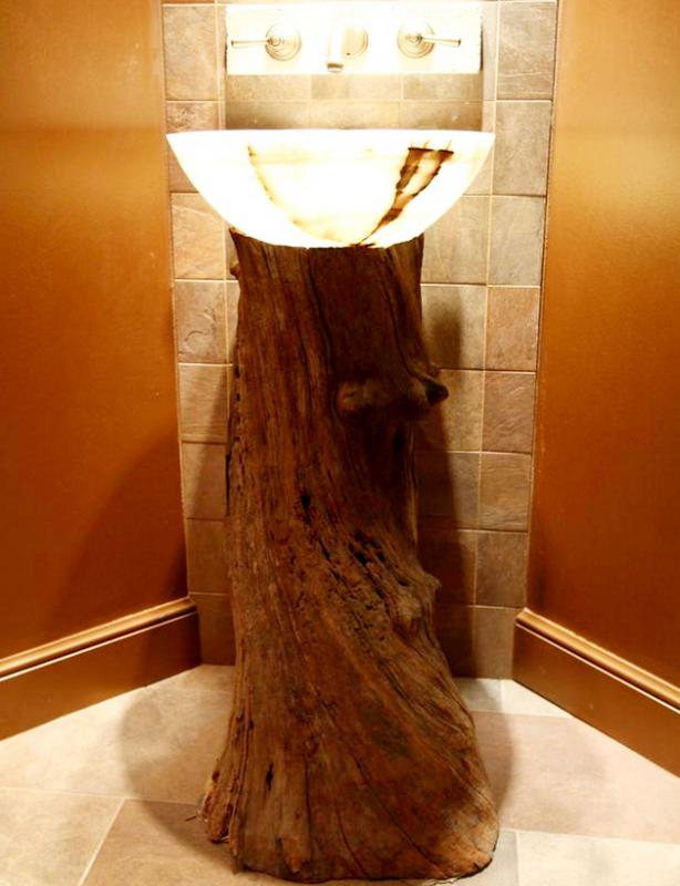 Tree Trunk Vanity Design