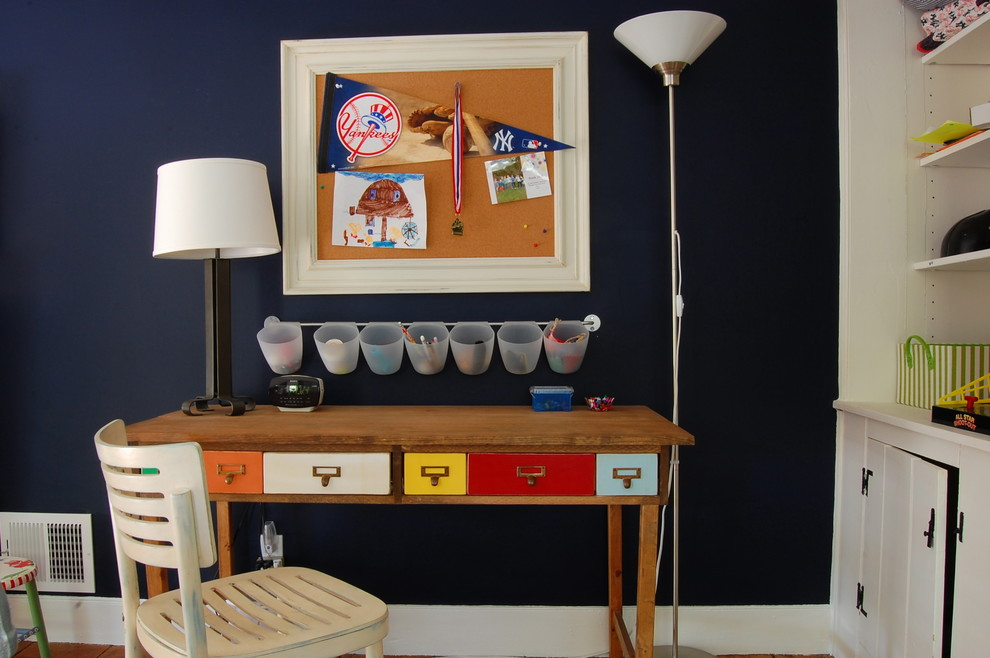 12 Card catalog desk to maximize home office
