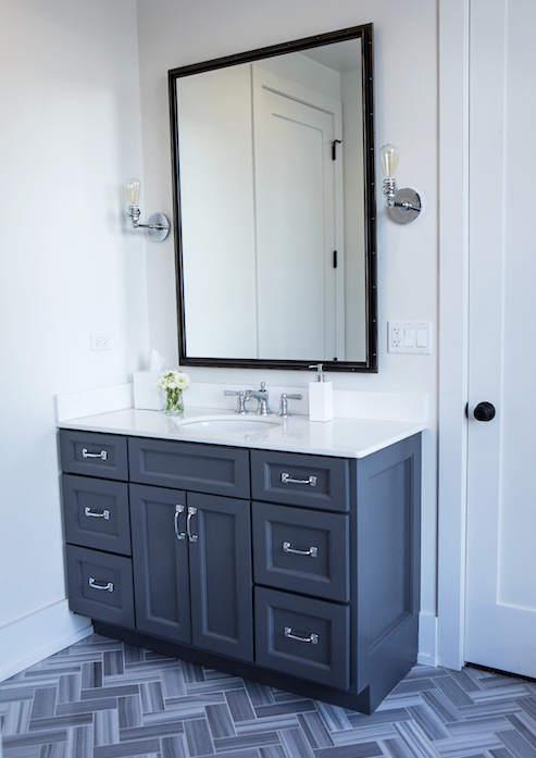 Small Bathroom Vanity From Tones of Blue Interiors