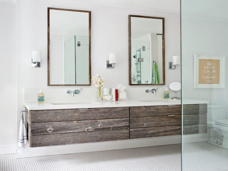 Sophisticated Contrast Wood Bathroom Vanities