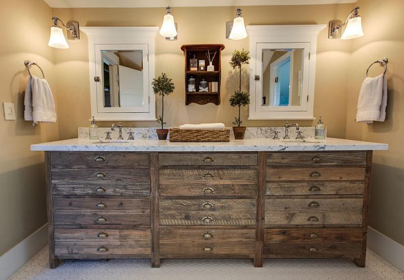 Vanity Ideas, Modern Rustic Bathroom Lightning Combination