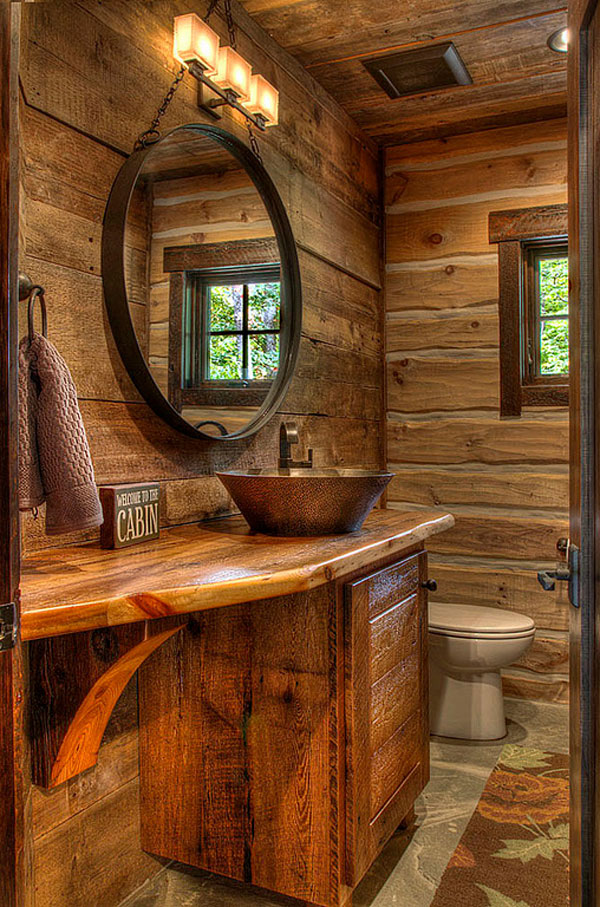 Cabin Look – Rustic Bathroom Vanities Design
