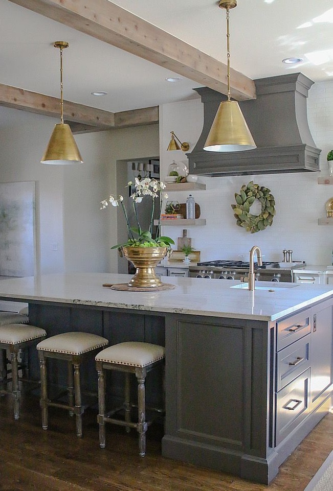 Go for pendant lights for your small kitchen
