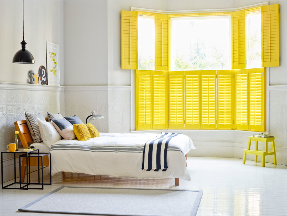 Use the right window treatment in the right color - California Shutters