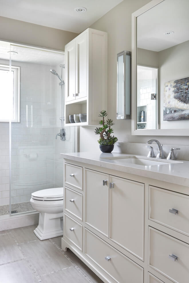 Small Bathroom Remodel by Laura Hay DECOR & DESIGN Inc