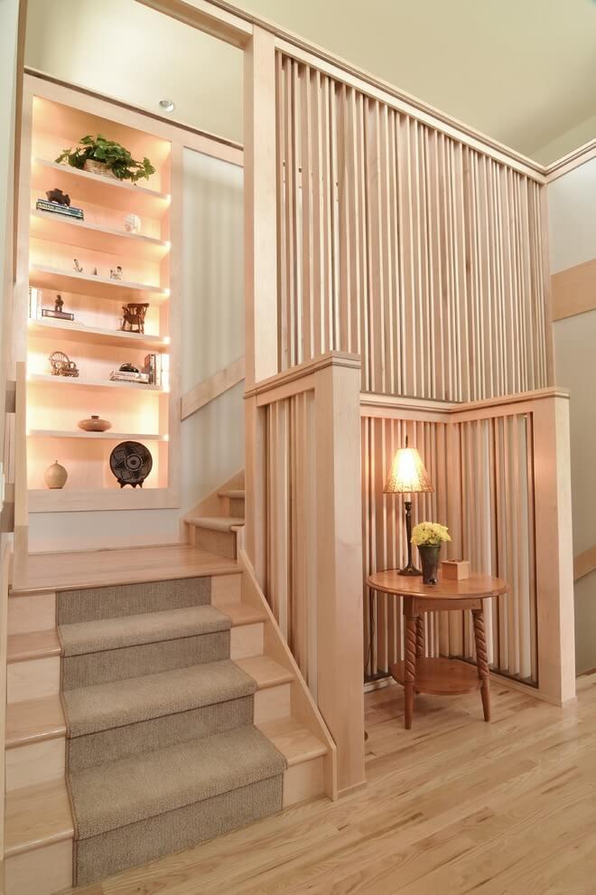 Vertical Wooden Stairwell