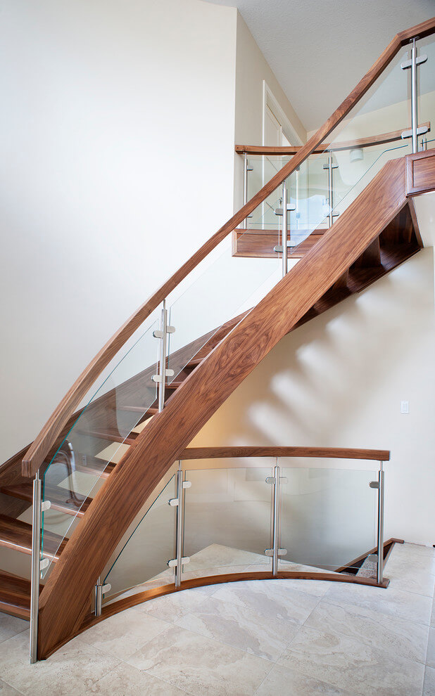 Walnut Curved Staircase