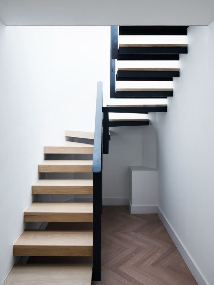This minimalist staircase by Amos Goldreich Architecture
