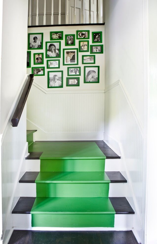 Green Paint and Green-framed Photos