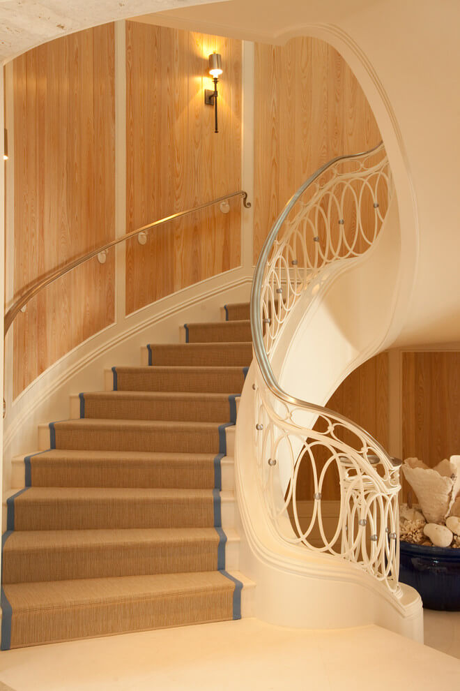 This swooping stairwell by Marble Crafters